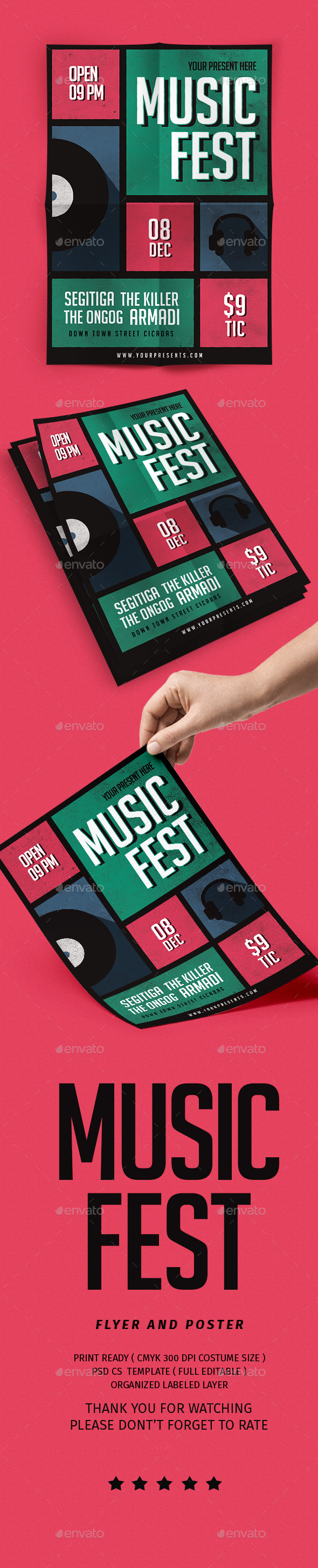 GraphicRiver Music Fest Flyer 21142375