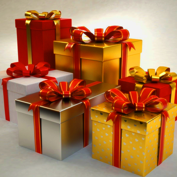 3D CHRISMAS GIFTS - 3DOcean Item for Sale