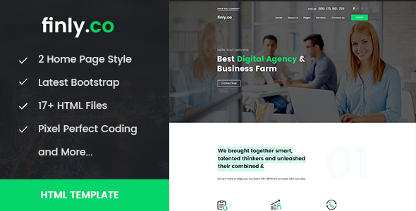 Finly.co - Business & Digital Agency HTML Template