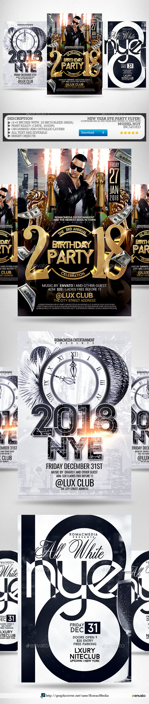 New Year Flyer Bundle 4 - Clubs & Parties Events