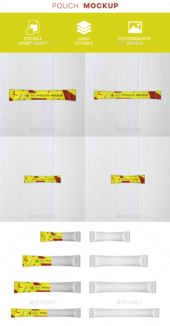 GraphicRiver Stick Sachet Mockup 21142398