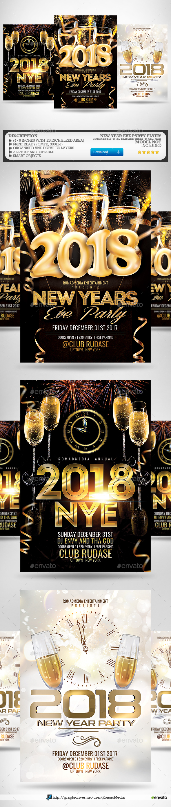 New Year Flyer Bundle 5 - Clubs & Parties Events