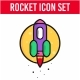 Rocket Icon Set