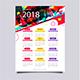 1 Page Wall Calendar 2018
