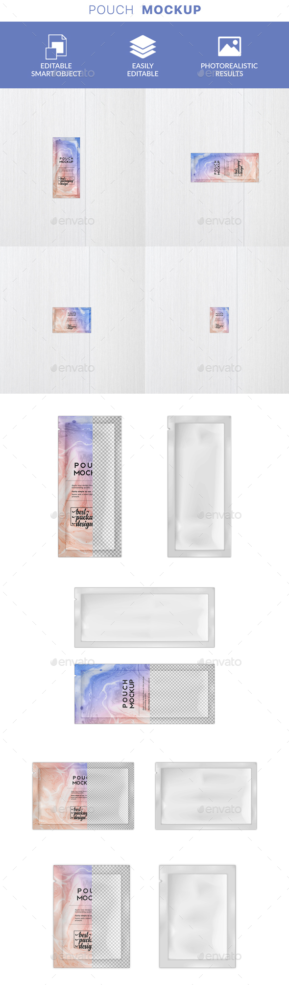 GraphicRiver Cosmetics Packaging Sachet Mockup 21142522