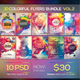 10 Colorful Flyers Bundle Vol. 2 - GraphicRiver Item for Sale