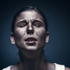 Close up portrait of a crying woman with bruised skin and black eyes - PhotoDune Item for Sale