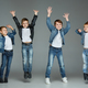 Young boys jumping at studio - PhotoDune Item for Sale