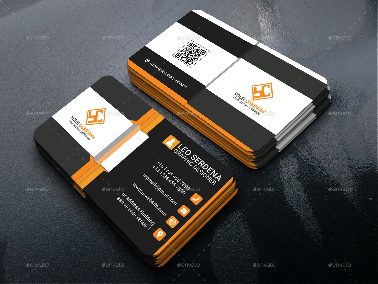 Modern Business Card by Leoserdena | GraphicRiver