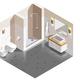 Bathroom Interior Isometric Composition