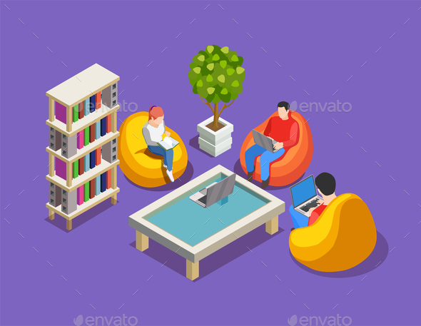 GraphicRiver Relax At Work Composition 21142832