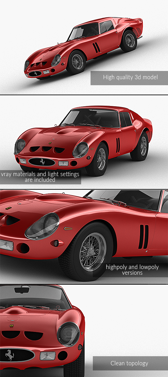 3DOcean Ferrari 250 GTO Series I 1962 21142853