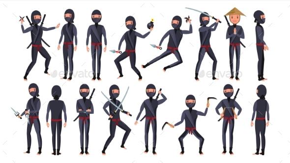 GraphicRiver Ninja Character Vector 21142856