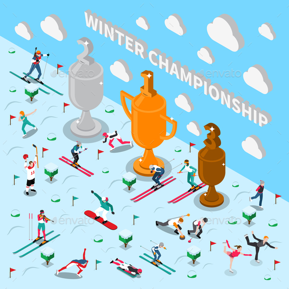 Winter Games Championship Composition - Sports/Activity Conceptual