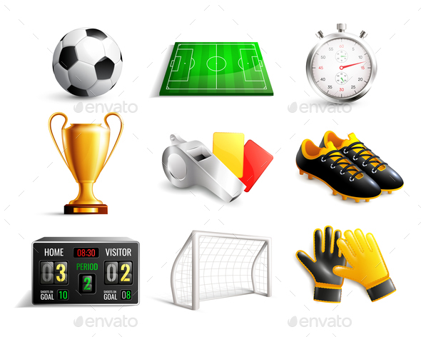 GraphicRiver Soccer 3D Icons Set 21142914