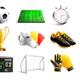 Soccer 3D Icons Set