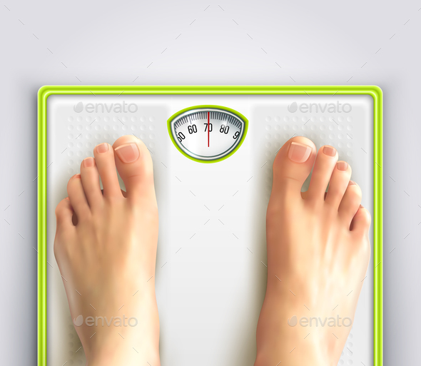 GraphicRiver Woman Weight Loss Illustration 21142961