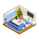 Isometric Winter Family Holiday Concept - GraphicRiver Item for Sale