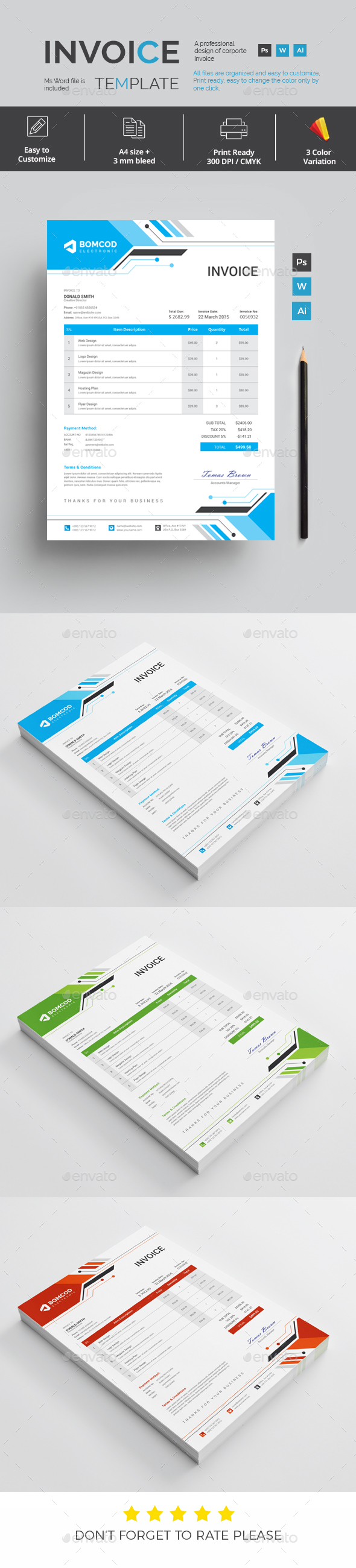 GraphicRiver Invoice 21143139