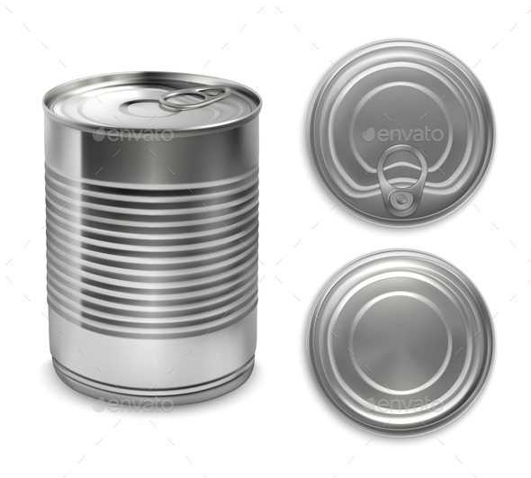 Realistic Preserve Cans Collection - Food Objects