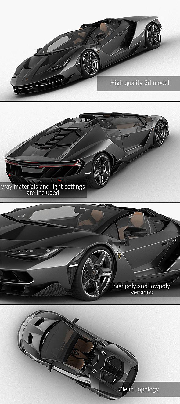 3DOcean Lamborghini Centenario Roadster 2017 21143160