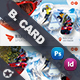 Winter Adventure Business Card Templates - GraphicRiver Item for Sale