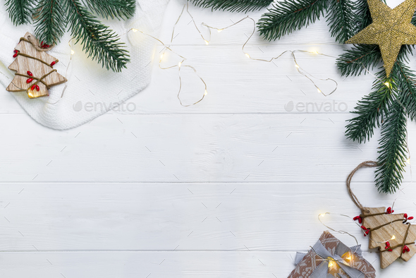 Christmas composition. - Stock Photo - Images