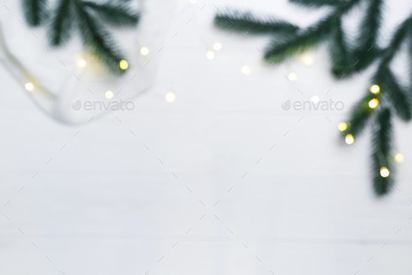 Christmas blurred composition. - Stock Photo - Images
