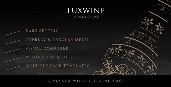 Luxwine - Wine WordPress Theme