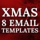 Xmas - 8 Responsive Email Templates with Mailchimp Editor & StampReady Builder - ThemeForest Item for Sale