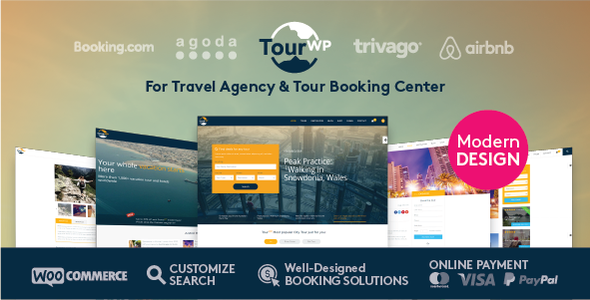 Tour WP - Travel & Tour WordPress Theme or Tour Operator and Travel Agency - Travel Retail