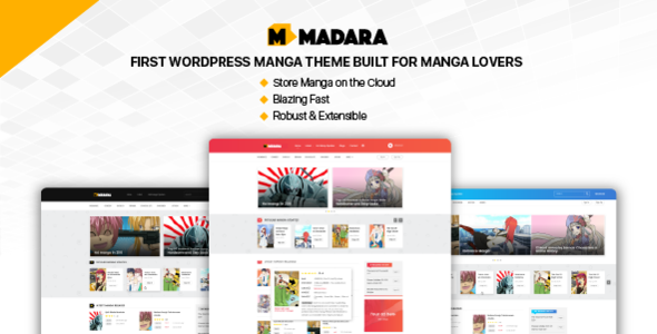 madara - wordpress theme for manga (news / editorial) Madara – WordPress Theme for Manga (News / Editorial) Madara theme preview