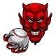 Devil Baseball Sports Mascot
