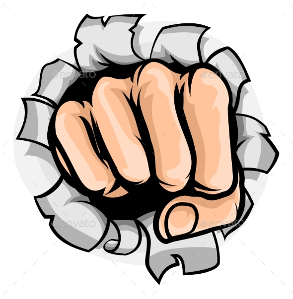 GraphicRiver Fist Punching Hole 21143387