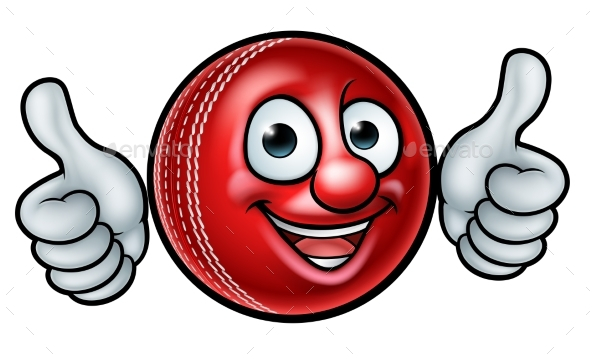 GraphicRiver Cricket Ball Mascot 21143403