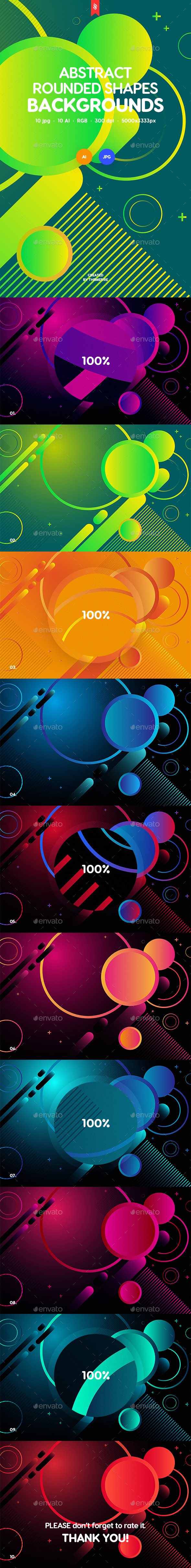 GraphicRiver Rounded Shapes Backgrounds 21143440