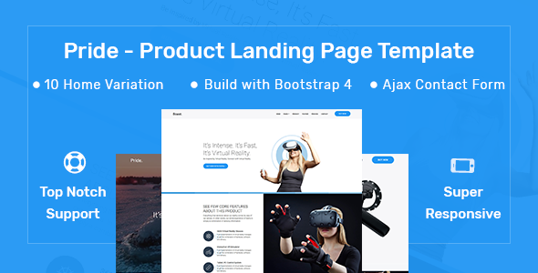 Download Pride - Product Landing Page Template            nulled nulled version