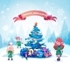 Elves Near Decorated Christmas Tree - GraphicRiver Item for Sale