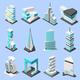 Futuristic Architecture Isometric Set