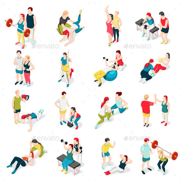 GraphicRiver Personal Trainer Sport Icons 21143607