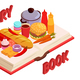 Culinary Book Isometric Composition