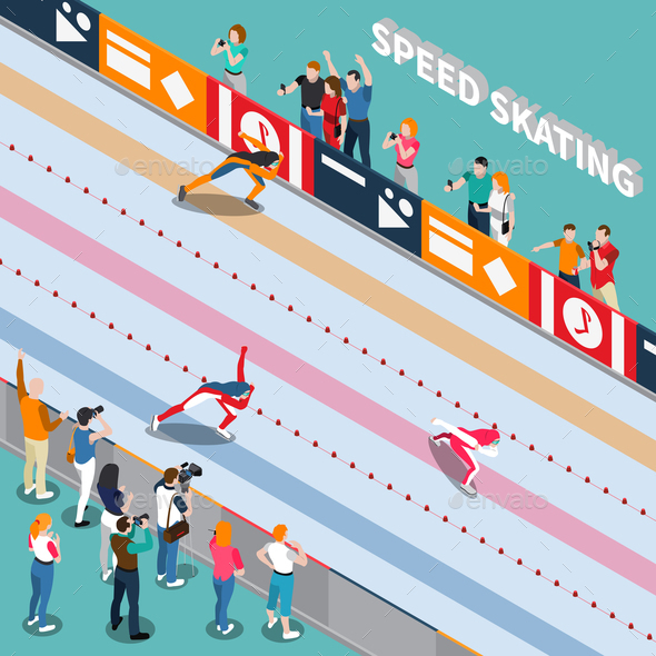 GraphicRiver Skating Track Isometric Composition 21143614