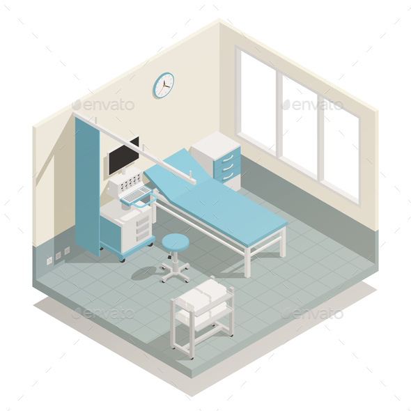 GraphicRiver Hospital Medical Equipment Isometric Composition 21143616