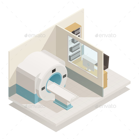 Medical Diagnostic Equipment Isometric Composition - Health/Medicine Conceptual