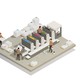 Printing Production Process Isometric Composition