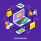 File Hosting Isometric Design Concept