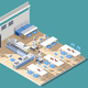 Fastfood Restaurant Isometric Composition