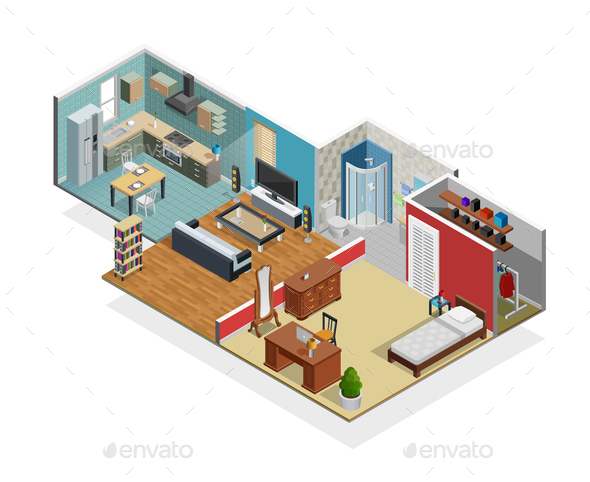 House Interior Concept - Buildings Objects