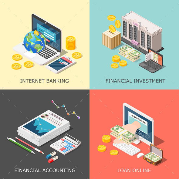 Financial Investment Design Concept - Concepts Business