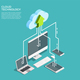 Cloud Computing Technology Isometric Poster